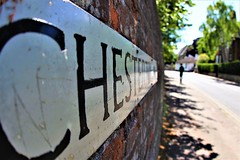 Chesterton road Cambridge (I was blind now I see!) Tags: bokeh street name cambridge road trees wall shadows letters bricks plaque man person texture point view pov light leading lines cambridgeshire chesterston city centre