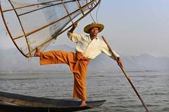 Intha boatman (@Mark_Eveleigh) Tags: asia asian burma burmese east indochina myanmar south lake inle shan state boat boatman net fish trap fishtrap conical hat intha inlay innlay innle