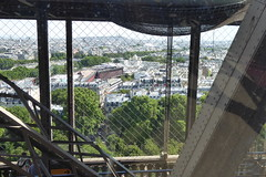 view from the Eiffel Tower (Muddy LaBoue) Tags: iledefrance monuments towers iconicarchitecture 1889 2017 july worldexposition eiffeltower paris france attractions tourism panasoniclumixdmctz60 summer