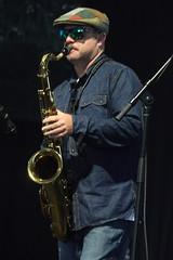 Eric Lindell & The Grand Nationals (2017) 13 (KM's Live Music shots) Tags: americana rockmusic blues soul unitedstates ericlindell tenorsax saxophone neworleansjazzheritagefestival bluestent fairgroundsracecourseneworleans