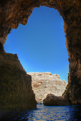 "Blue Grotto ""Malta"" (Robban.W) Tags: malta bluegrotto nikon nikkor d800 2470 cave grotta medelhavet mediterranean bluewater boattrip"