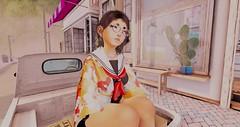 Chillin' in Beach City (Jiibataiga-Julie Farrior) Tags: secondlife okinawa okinawan japanese japan kawaii beach city steven universe su cute fun summer festival cafe hazy matsuri tram vco jiiba soy