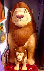 "Disneys The Lion King 14"" and 34"" Mufasa plush. (80'scollector_geekstress) Tags: snall huge tlk plushie plush disney lionking"