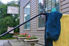 Open Studios (AntyDiluvian) Tags: rhodeisland studio openstudios antiques weaving adamsville fabric fiberart sign samples