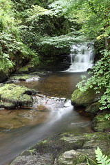 Watersmeet waterfall (717Images) Tags: watersmeet exmoor devon flowing stream britain national park