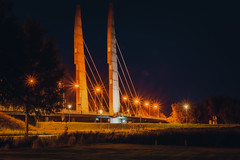 Mastenbroekerbrug Zwolle Holland (vanderwoud1) Tags: mastenbroekerbrug town reflection mood city brug avond nacht