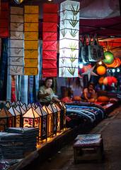 DSCF5794 (Deepak Kaw) Tags: night lights luangprabang laos street colours composition activity people