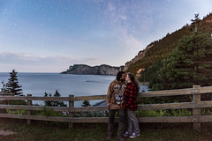 Love under the stars (grimaux.jordan) Tags: love under stars beloved wife husband trip canadian forillon great view belvédère national park lovers sky sea long exposure forest nature