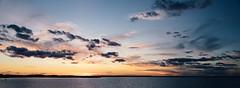 shades of dusk (almostsummersky) Tags: horizon madison spring lakemendota water edgewater boats orange clouds blue shadow twilight waves sky sunset panorama lake wisconsin dusk unitedstates us