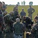 Soldiers from the Ohio National guard observe Serbian Armed Forces Infantrymen from 1st Company, 11th Battalion, 1st Infantry Brigade of the Land Forces joined with Hungarian Infantrymen of 2nd Company, 3rd Battalion of the 5th Infantry Brigade as they co