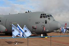 IMG_0559 (routemaster2217) Tags: royalinternationalairtattoo riat2017 raffairford aircraft airshow airbase airdisplay aviation c130hercules israeliairforce lockheedmartinc130j30 transportplane cargoaircraft 667