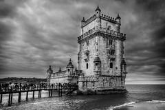 Belem Tower (mdavies149) Tags: blackandwhite belemtower portugal lisbon belem travel vacation architecture nikon d600 michaeldavies water river rio tejo lisboa