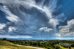 Pop Up Thunderstorm Popping Up Over The Roanoke Valley (Terry Aldhizer) Tags: pop up thunderstorm roanoke valley vinton salem county sky blue ridge mountains storm hot summer july terry aldhizer wwwterryaldhizercom