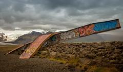 Skeiðará Bridge Monument (Jack Landau) Tags: skeiðará bridge monument twisted steel girders metal remains ruins iceland jack landau