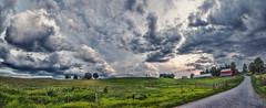 IMG_4533-36Ptzl1TBbLGER2 (ultravivid imaging) Tags: ultravividimaging ultra vivid imaging ultravivid colorful canon canon5dmk2 clouds stormclouds sunsetclouds scenic summer vista fields farm rainyday rural panoramic pennsylvania pa barn road evening greenscene