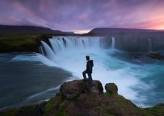 Godafoss [Iceland] (Majeed Badizadegan) Tags: iceland midnightsun