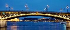 Margaret bridge On the Danube @ Budapest (kathender1) Tags: budapest dabube sunset evening river cityscene ligght bridge margaret light riverscene