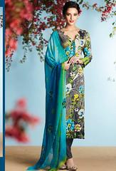 Gray Georgette Satin Printed Straight Cut Suit (nikvikonline) Tags: satin satinsalwar salwarkameez pakistani pakistanisuit suit suitsalwar salwar kameez designersalwar salwarsuit designer kamiz kamizonline suits straight pant green blue bridal wedding dress dresses