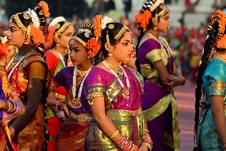 Kuchipudi Guinness Dance -Hyderabad 2014 (16)