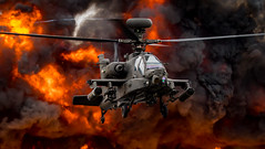 Apache (mike.noble74) Tags: apache riat gunship helicopter explosion fire army british smoke