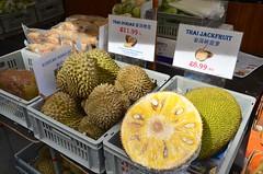 Durian And Jackfruit (Joe Shlabotnik) Tags: england london jackfruit 2017 april2017 chinatown durian afsdxvrzoomnikkor18105mmf3556ged
