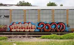 Avol/Foam (quiet-silence) Tags: graffiti graff freight fr8 train railroad railcar art avol foam crk pigs autorack ns norfolksouthern ettx703200