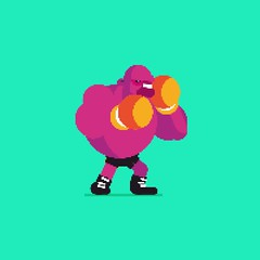 Day 201: Pixel Boxer (ChrisKoelsch) Tags: animation animate cartoon boxer boxing sport sports character design illustrator illustration pixel bit sprite videogame game duik