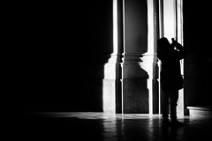 Like a prayer (parenthesedemparenthese@yahoo.com) Tags: dem alone bw basilica basilicadisangiovanniinlaterano basilique blackwandwhite femme monochrome nb noiretblanc roma rome saintjeandelatran shadow silhouette smartphone streetphotgraphy woman byn canoneos600d colonnes columns ef50mmf18ii hautcontraste highcontrast indoors intérieur italia italie loneliness ombre seul solitude streetphotographie summer