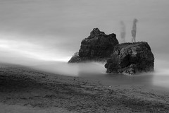 Time Out (annemcgr) Tags: lagos portugal rocks beach water blur le longexposure monochrome blackwhite fineartphotography annemcgrath