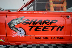 (Sam Tait) Tags: dragstalgia santa pod raceway nostalgia classic retro car sweden swedish gasser sharp teeth plymouth pike fish airbrush art