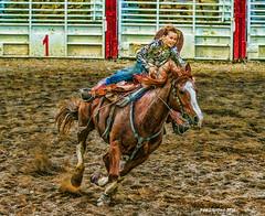 Go Girl !! (jackalope22) Tags: rodeo barrel race girl horse dayton ia