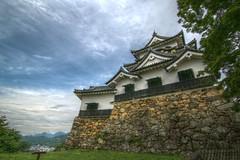 the main tower of HIkone-jo Castle HD (armada_rider_jp) Tags: 彦根 城 彦根城 hikonejo castle hikone shiga sky fortress medieval stone stonewall japan 国宝 滋賀 nationaltreasure