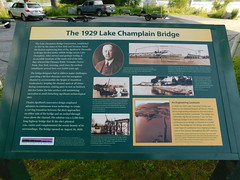 1929 Lake Champlain Bridge Sign (jimmywayne) Tags: vermont addisoncounty chimneypoint lakechamplain bridge 1929 sign