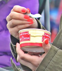 IMG_1452 ice cream (Nickdenbow) Tags: ice cream eating tub polished red nails