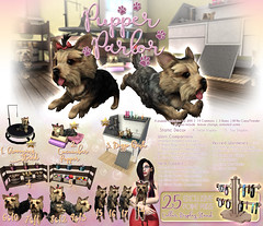 JIAN Pupper Parlor (The Epiphany July '17) ([JIAN]) Tags: secondlife mesh pets yorkie yorkshireterrier grooming parlor salon dogs jian gacha