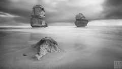 divided we stand - re-edit (TLP images) Tags: tlpimages 12apostles greatoceanroad victoria visitvictoria blackwhite longexposure