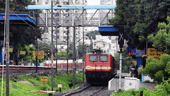 WAP-4 Class BSL Based Rajdhani Express (shivam.rai.111) Tags: ngc train greenary rajdhani express bsl wap4 22912 indian railways