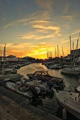 Port Sunset (laurent_trinco) Tags: sunset ile island re france boats sea