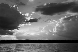 Thunderheads over Agnes Lake, BWCA