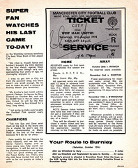 Manchester City vs Chelsea - 1974 - Page 11 (The Sky Strikers) Tags: manchester city chelsea maine road football league first division match magazine 10p