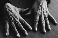 Manos de mi abuela (romigutierrez) Tags: hands bnw contrast ring wrinkles grandma