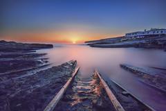 Amanece en Formentera... (elpitiuso) Tags: sunrise calm sun largaexposicion formentera colors sea seascape
