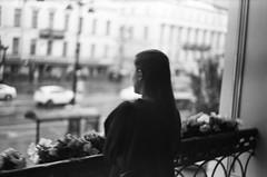 Nevsky prospect. Rain\Невский пр. Дождь (#maksimkr) Tags: kiev2 d76 typed stpetersburg street rangefinder