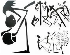 Mode Muntu, exposition à la Cité Miroir, place Xavier Neujean, Liège, Belgium (claude lina) Tags: claudelina belgium belgique liège citémiroir bainsdelasauvenière exposition modemuntu peinture oeuvre dessin