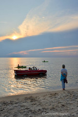 Lake Michigan ... rush hour (Ken Scott) Tags: 1967amphicar empirebluff kayaks sunset leelanau michigan usa 2017 july summer 45thparallel hdr kenscott kenscottphotography kenscottphotographycom freshwater greatlakes lakemichigan sbdnl sleepingbeardunenationallakeshore voted mostbeautifulplaceinamerica