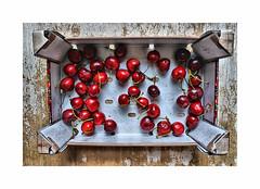 Ready for the pie ! (CJS*64) Tags: nikon nikkorlens nikkor nikond7000 dslr d7000 24mm85mmlens cherry cherries fruit box punnet colour craigsunter cjs64 cjs colours eat eating nikonflickraward