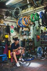 Bike shop (Daniele Zanni) Tags: 500px x100s facebook flickr google man squarespace streetphotography travel vietnam uncool cool uncool2 uncool3 uncool4 cool2 cool3 uncool5 uncool6 cool4 uncool7