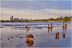 Remic Rapids Rock Sculpture Project (Note-ables by Lynn) Tags: gatineau sculptures art balancedrocks ottawariver ottawa remicrapidssculpturedrocksproject remicrapids