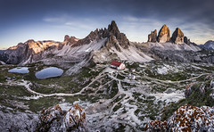 Tre Cime di Lavaredo (Frederic Huber | Photography) Tags: 1124 1635 2470 70200 landschaft altoadige canoneos5dsr dolomiten dolomites dreizinnen eos fotodiox frederichuber freearc italia italien italy lagodibraies landscape leefilters photography pragserwildsee seceda seiseralm southtyrol sunrise sunset sã¼dtirol wonderpana wwwfrederichubercom