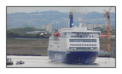 King Seaways leaving the Tyne 25-7-17 (Tiberius smith) Tags: dfds ferry tyne tynemouth netherlands ship river